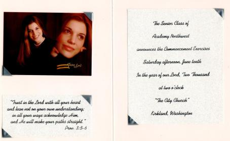 Graduation 2000 - 2